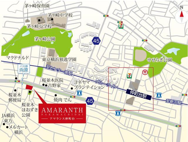 【地図】アマランス仲町台