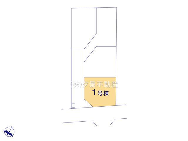 【区画図】川口市大字赤山18-2全4戸(1号棟)新築一戸建てブルーミングガーデン