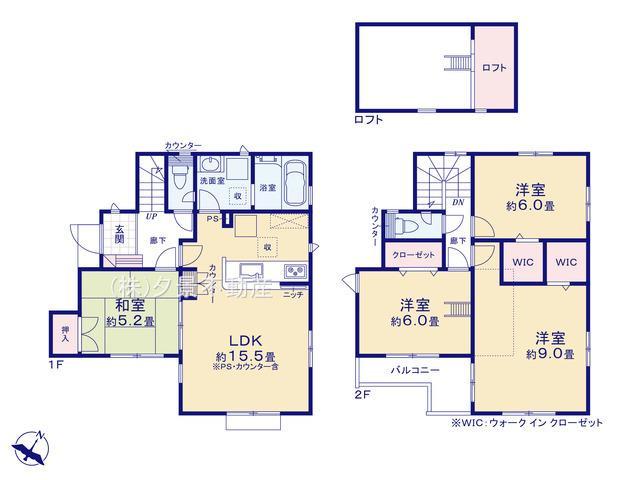 川口市大字赤山18-2全4戸(2号棟)新築一戸建てブルーミングガーデン