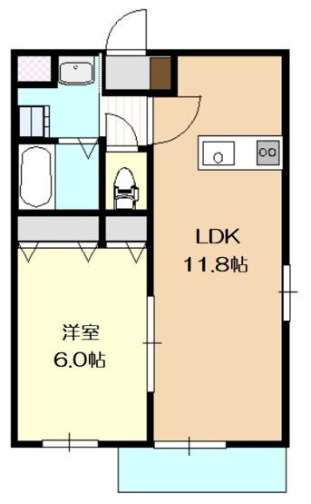 家具の配置などレイアウトしやすい間取りのお部屋です。