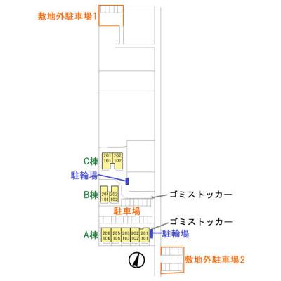 【区画図】プロシード青葉台 A