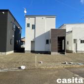 大仙市大曲日の出町1丁目B 大曲小学校区のオール電化新築建売住宅 3LDK消雪道路の画像