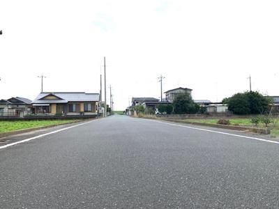 【前面道路含む現地写真】太田市堀口町農業用地