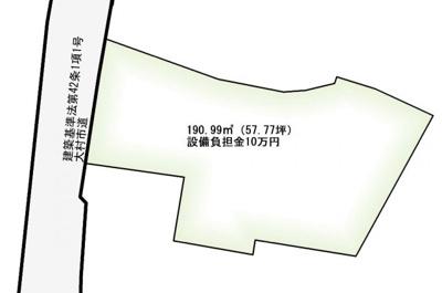 【区画図】杭出津2丁目 売地
