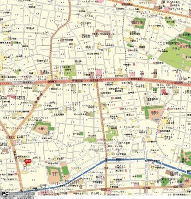 【地図】サンテミリオン新中野