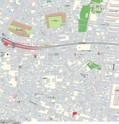 【地図】ハイシティ中野
