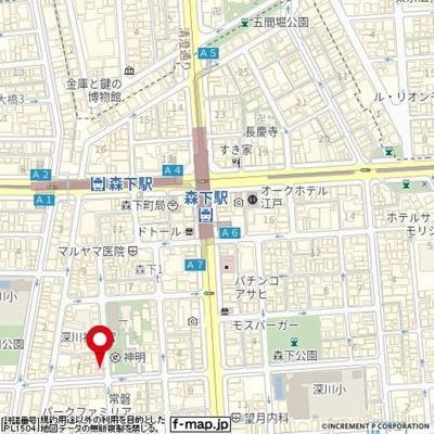 【地図】リタ森下