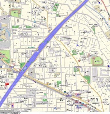 【地図】ライオンズマンション武蔵新城第5
