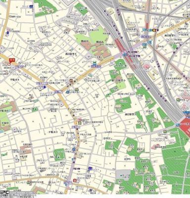 【地図】アドリーム千駄木