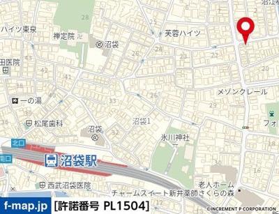 【地図】COMFY HOME中野