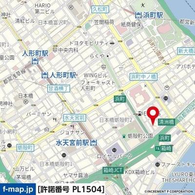 【地図】ガラ・グランディ日本橋