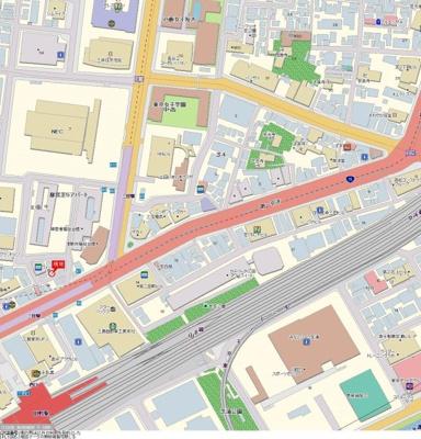 【地図】ジェイパークステーション田町