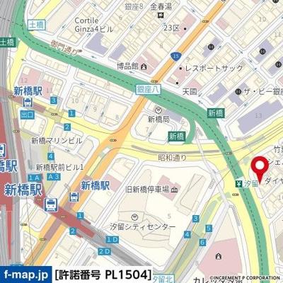 【地図】銀座ダイヤハイツ