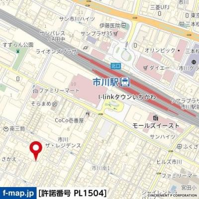 【地図】さかえマンション