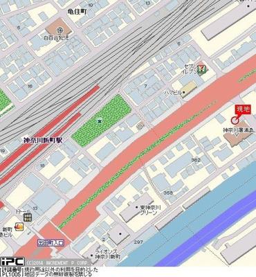 【地図】スカイコート神奈川新町