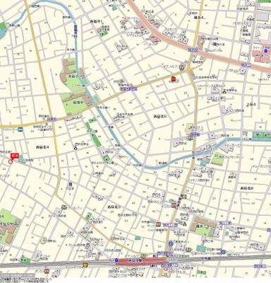 【地図】荻窪コーポ
