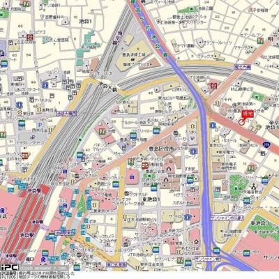 【地図】コスモ東池袋