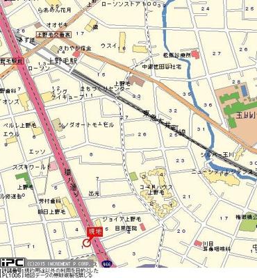 【地図】エクセリア上野毛