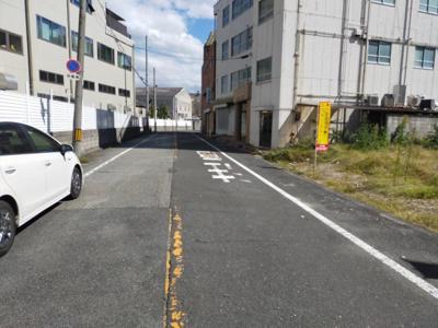 【前面道路含む現地写真】東大阪市稲田上町1丁目 売土地