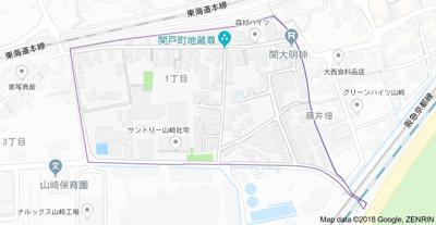 【地図】アイビーコート山崎 (株)Roots
