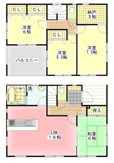全室収納スペースを確保し、暮らしやすさに配慮。陽当たりも考えた間取りとなっております。シンプルな動線を追求した快適な間取りとなっております。