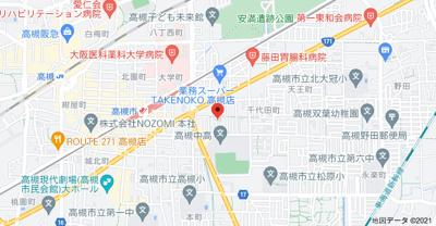【地図】南松原平屋(手前) (株)Roots