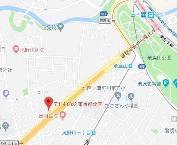 【地図】ユリカロゼ飛鳥山公園