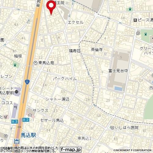 【地図】スリーアローズ馬込