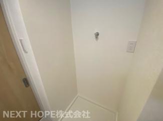 洗面室には新品の洗濯パンが設けられております♪気持ちよくご入居していただけます(^^)
