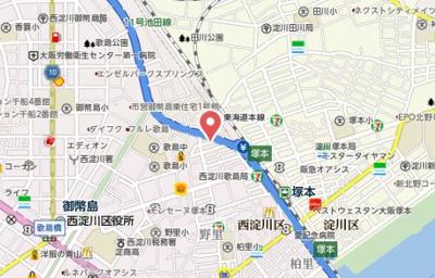 【地図】フジパレス歌島
