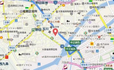 【地図】フジパレス福島サウス