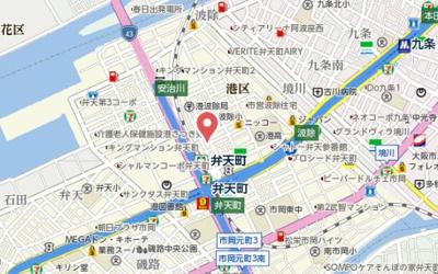 【地図】プライムステージ弁天町