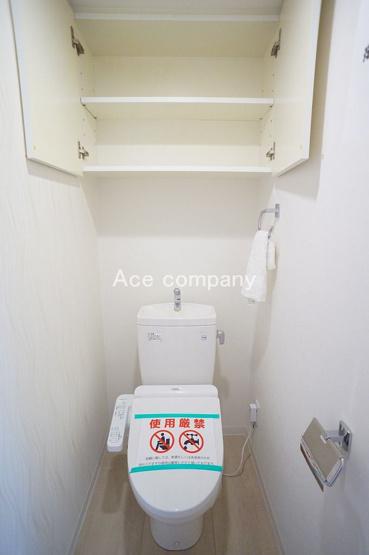 温水洗浄便座新調☆上部に吊り戸棚あります♪