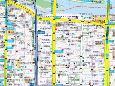 【地図】プレサンス本町リアルシティ
