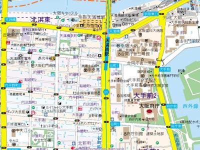 【地図】エスライズ天満橋