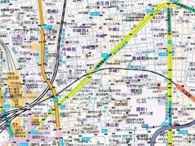 【地図】フォーリアライズ梅田レーベン