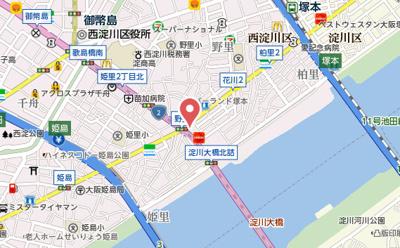 【地図】サムティ姫島LUMETO