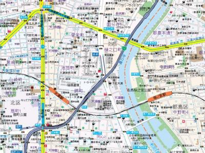 【地図】扇町公園プライマリーワン