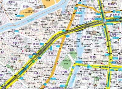 【地図】アスヴェル阿波座BLUE EARTH