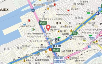 【地図】レオンコンフォート弁天町