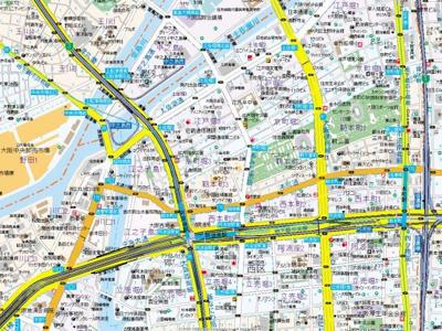 【地図】エス・キュート京町堀