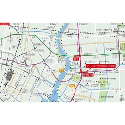 【地図】アーバネックス清澄白河Ⅱ WEST棟