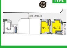 【区画図】茅ヶ崎市高田2丁目 新築戸建 12号棟