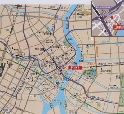 【地図】ドルチェ日本橋シティターミナル