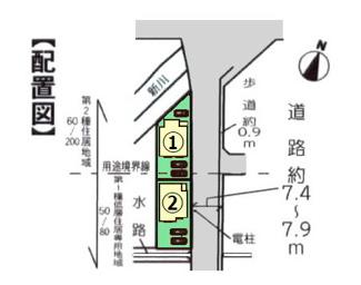 【区画図】沼津市下香貫藤井原Ⅰ 新築戸建 全2棟 (1号棟)
