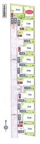 【区画図】立川市西砂町6丁目 新築戸建全12棟
