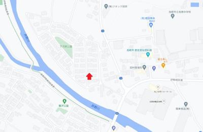 【地図】高崎市元島名の中古戸建
