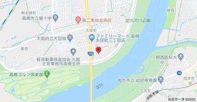 【地図】ルネ高槻リバーサイドガーデン