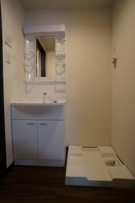 洗髪シャワー付きの洗面化粧台です。