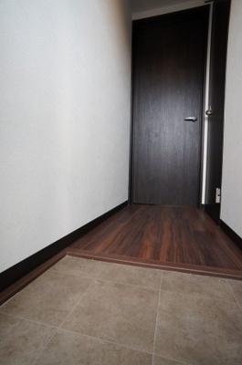 段差のない玄関です。